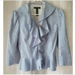 Lauren Ralph Lauren size 8 blue/white jacket
